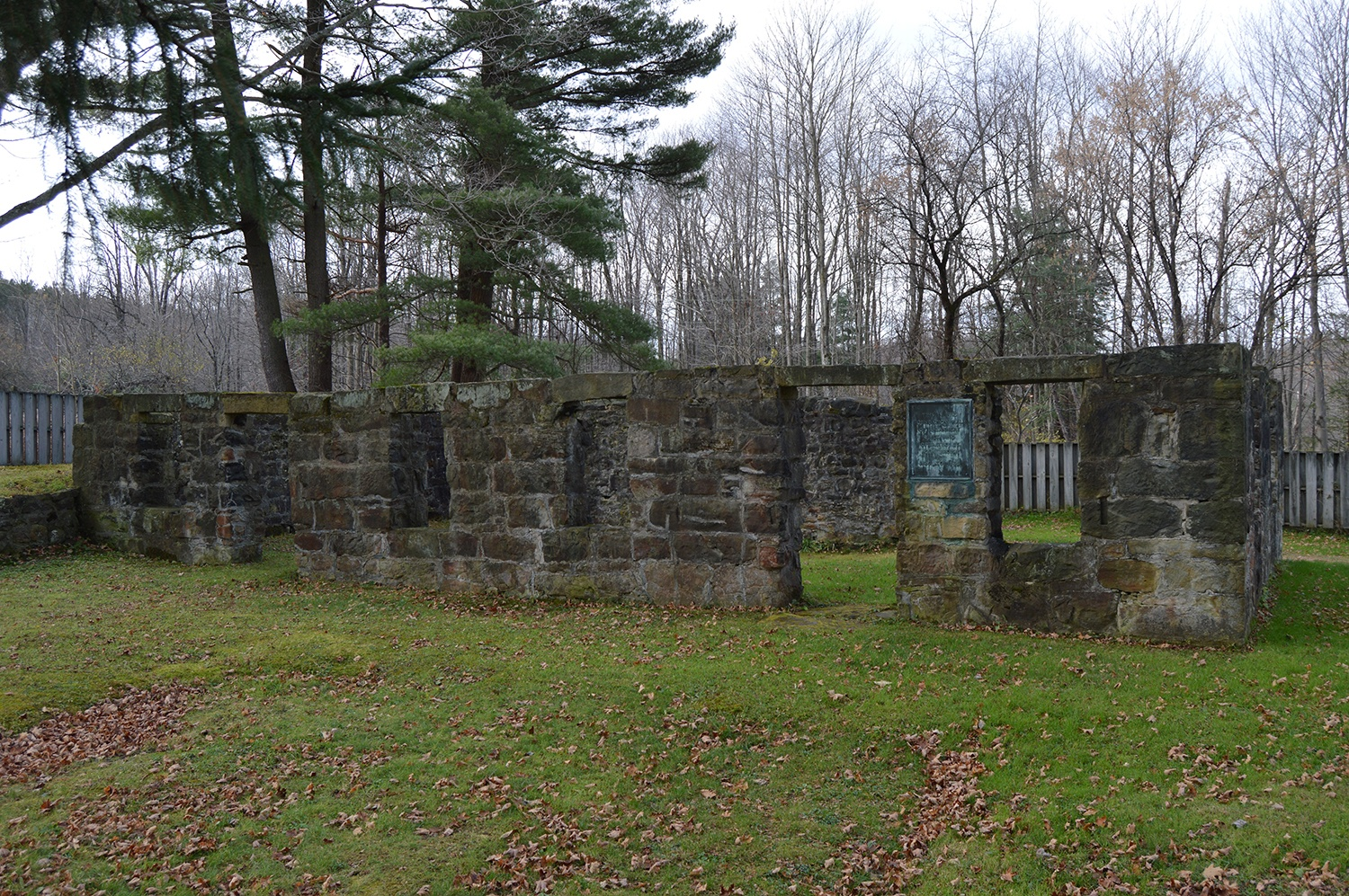 Photograph showing the remaining ruins of the John Brown tannery, Crawford County, Pa, 2014.