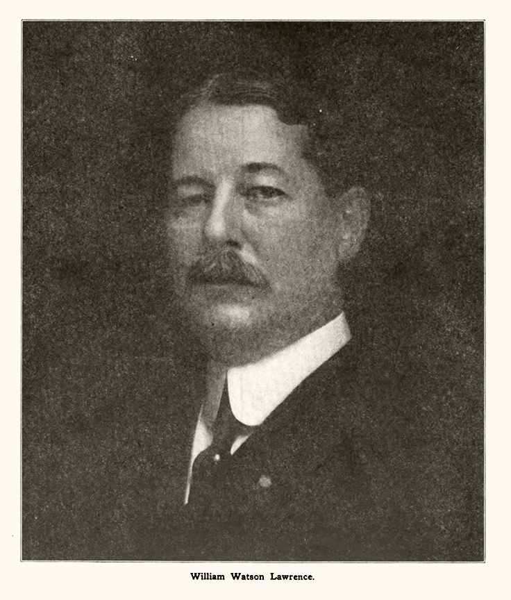 Portrait of W.W. Lawrence from the notice of his death in 1916. Paint, Oil and Drug Review, vol. 62, no. 1, p. 33.