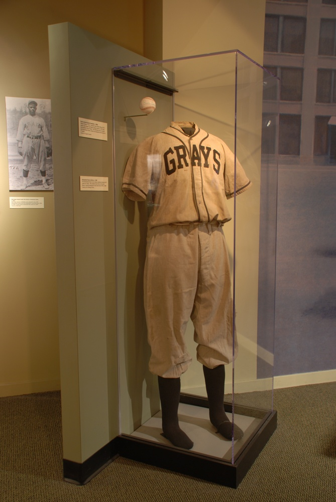 The Homestead Grays baseball uniform of second baseman Clarence Bruce