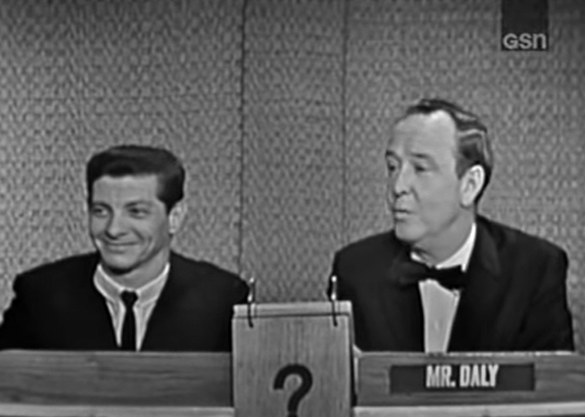 """Bill Hartack appearing on the CBS-TV game show """"What's My Line?"""" May 10, 1964. Hartack won his fourth Kentucky Derby aboard Northern Dancer about a week earlier."""