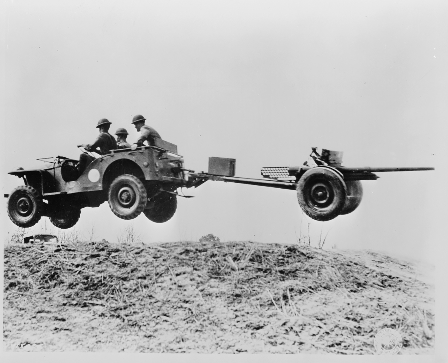 Rigorous testing at Camp Holabird in Maryland proved that the prototype Bantam Reconnaissance Car could perform like a horse and even tow field artillery over the roughest terrain. Courtesy of the Library of Congress.
