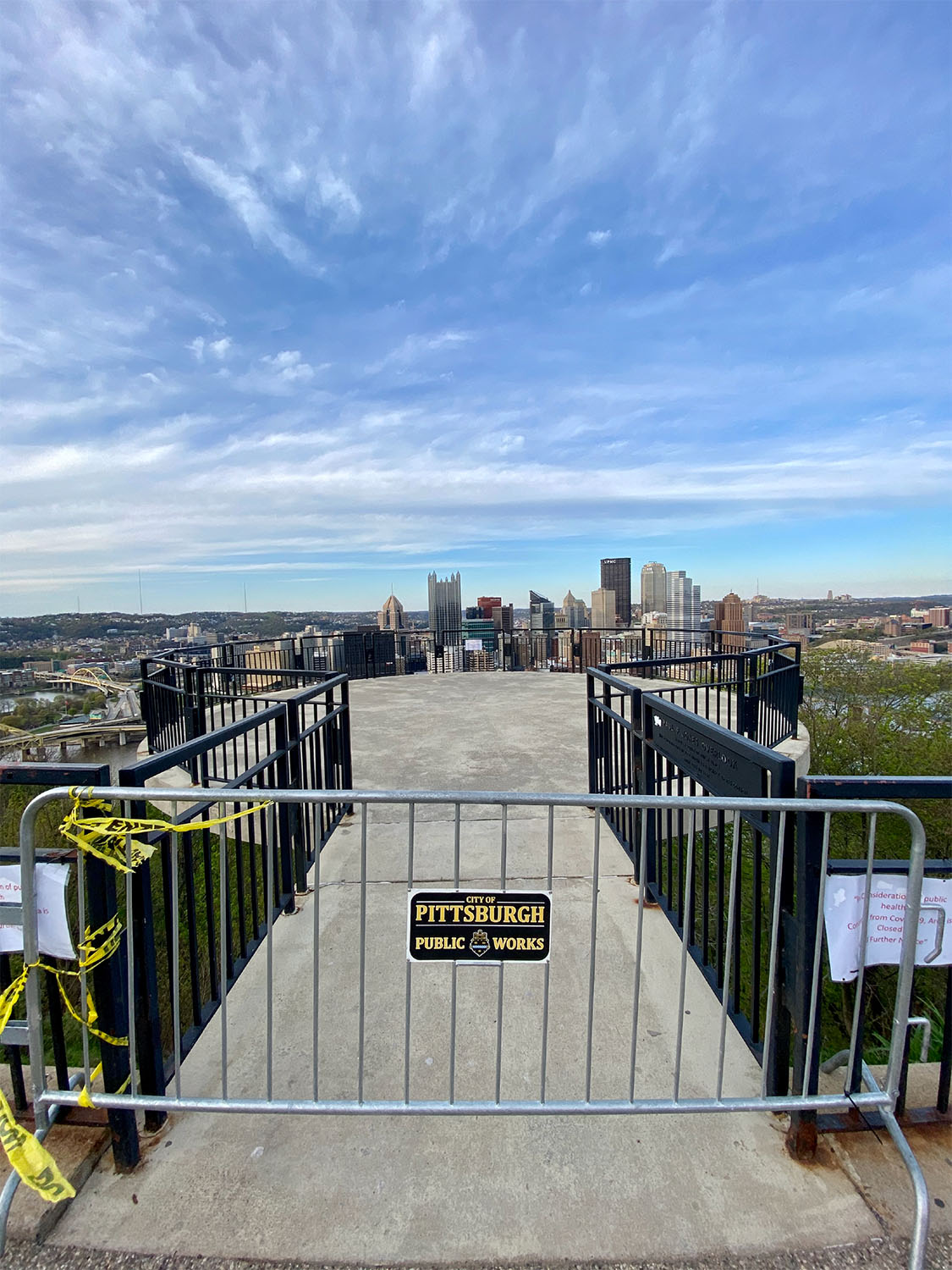 ALT:Mt. Washington Overlook, April 27, 2020 | #Pixburgh Photo Album