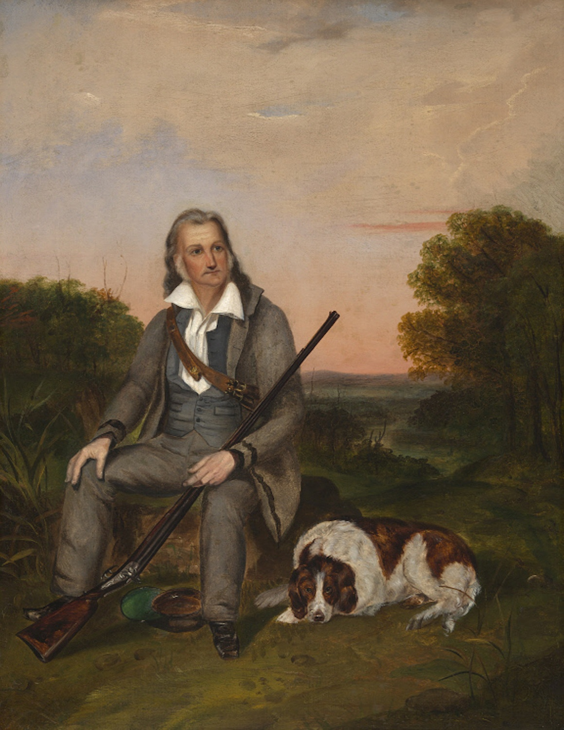John James Audubon, unidentified artist, oil on canvas, c. 1841. From the National Portrait Gallery, Smithsonian Institution.