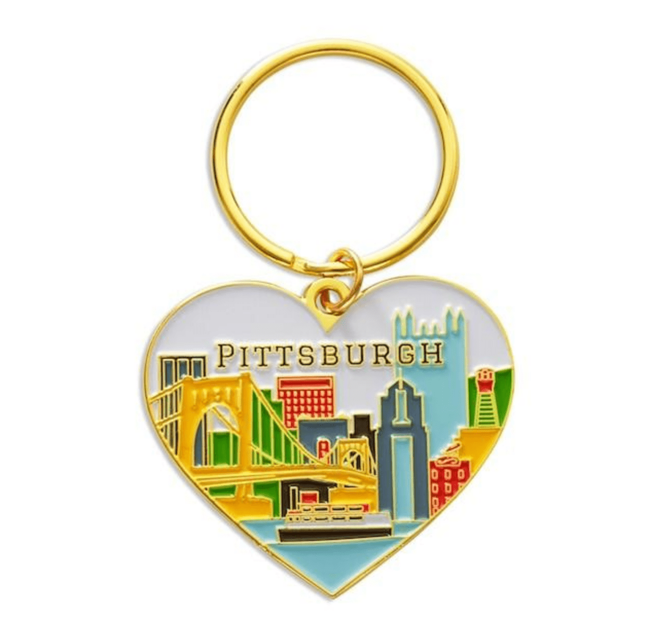 Shop: Pittsburgh Heart Keychain