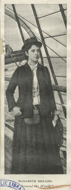 Photograph of Elizabeth Bisland dressed as she would have been on her travels.