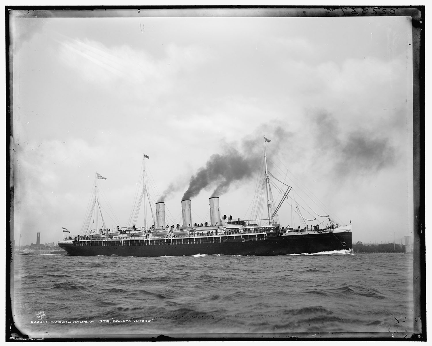 Photograph of the Augusta Victoria, c. 1890. Courtesy of Wikimedia Commons.