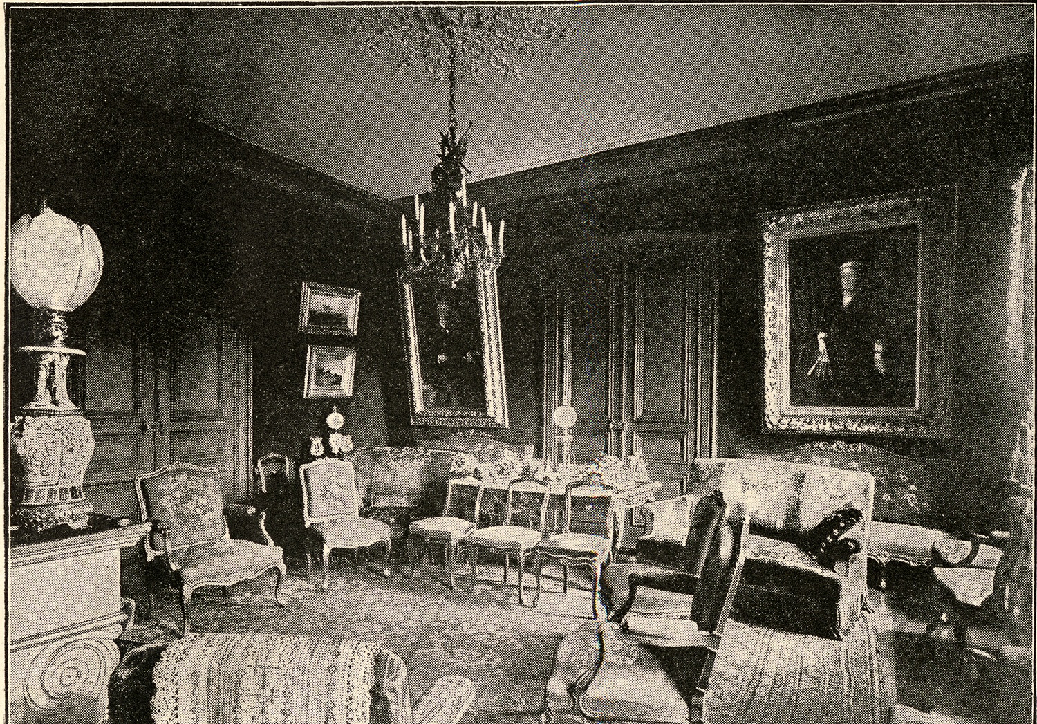 Jules Verne's grand salon in his house in Amiens, 1894. Courtesy of Wikimedia Commons.