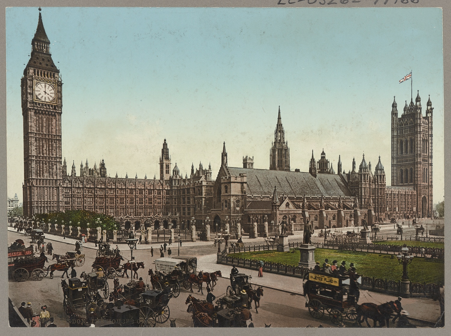 The Houses of Parliament as Nellie Bly saw them on her way to the London offices of The World, c. 1890s. Courtesy of the Library of Congress.