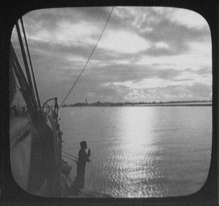 Photograph of Port Said at sunset, 1894. Courtesy of the Library of Congress.