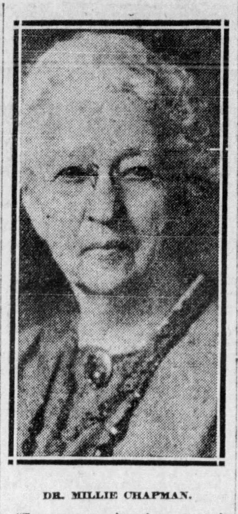 Press image of Dr. Millie J. Chapman, 1924. The Pittsburgh Press. March 23, 1924.