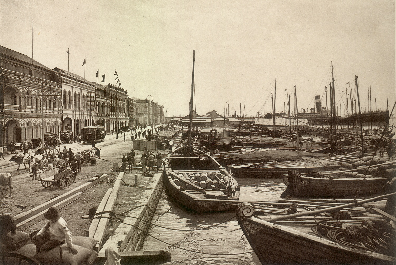 Wharf at George Town, c. 1910. Courtesy of Wikimedia Commons.