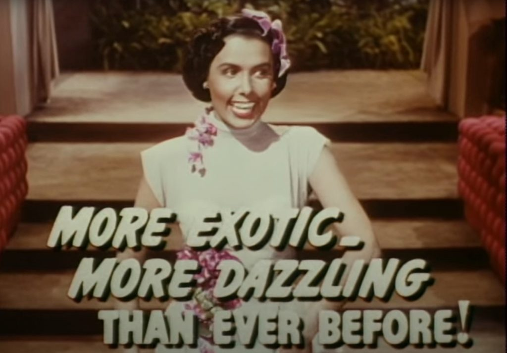 Lena Horne appearing in the theatrical trailer for Words and Music, 1948.