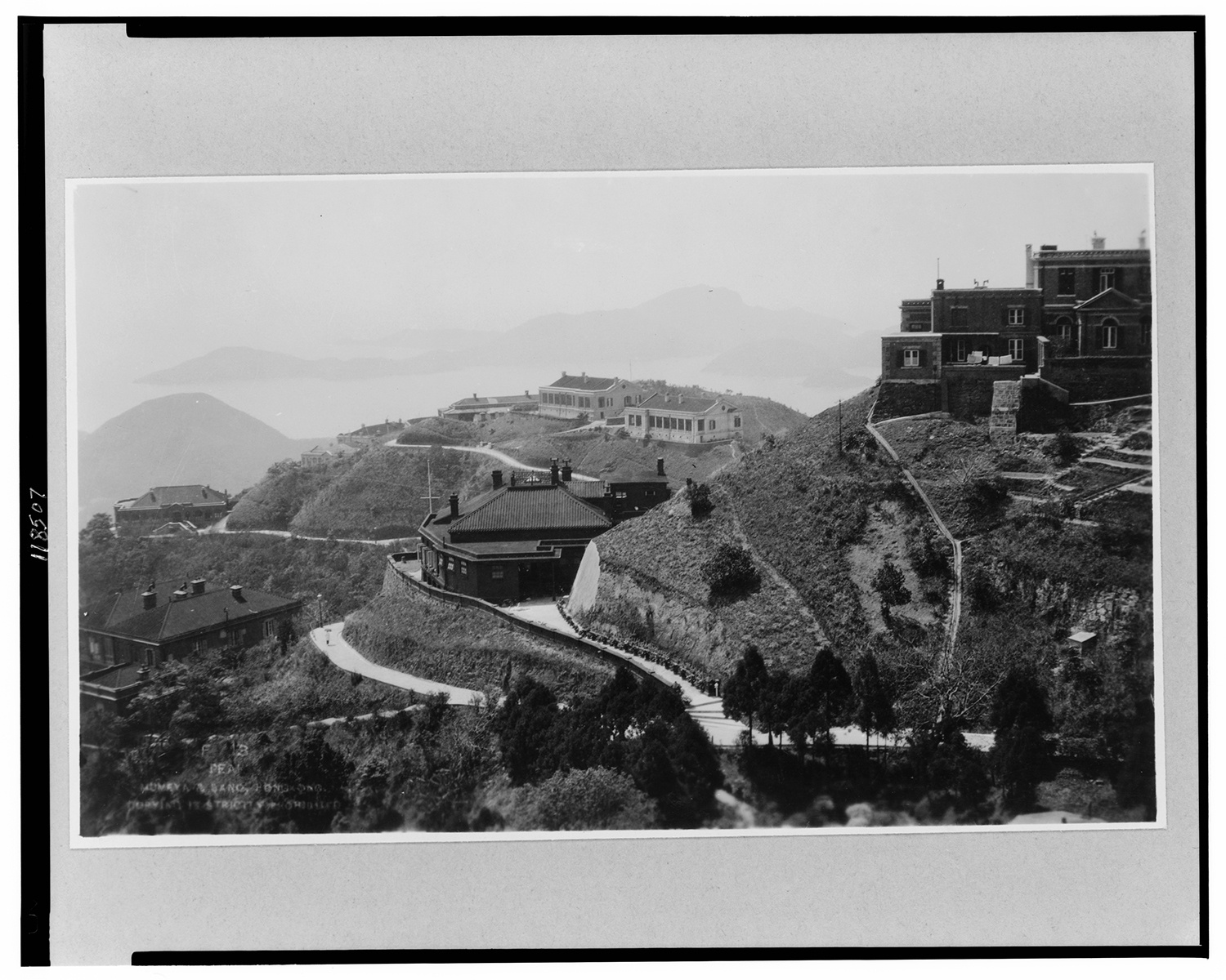 Estates on Victoria Peak, c. 1900. Courtesy of the Library of Congress.