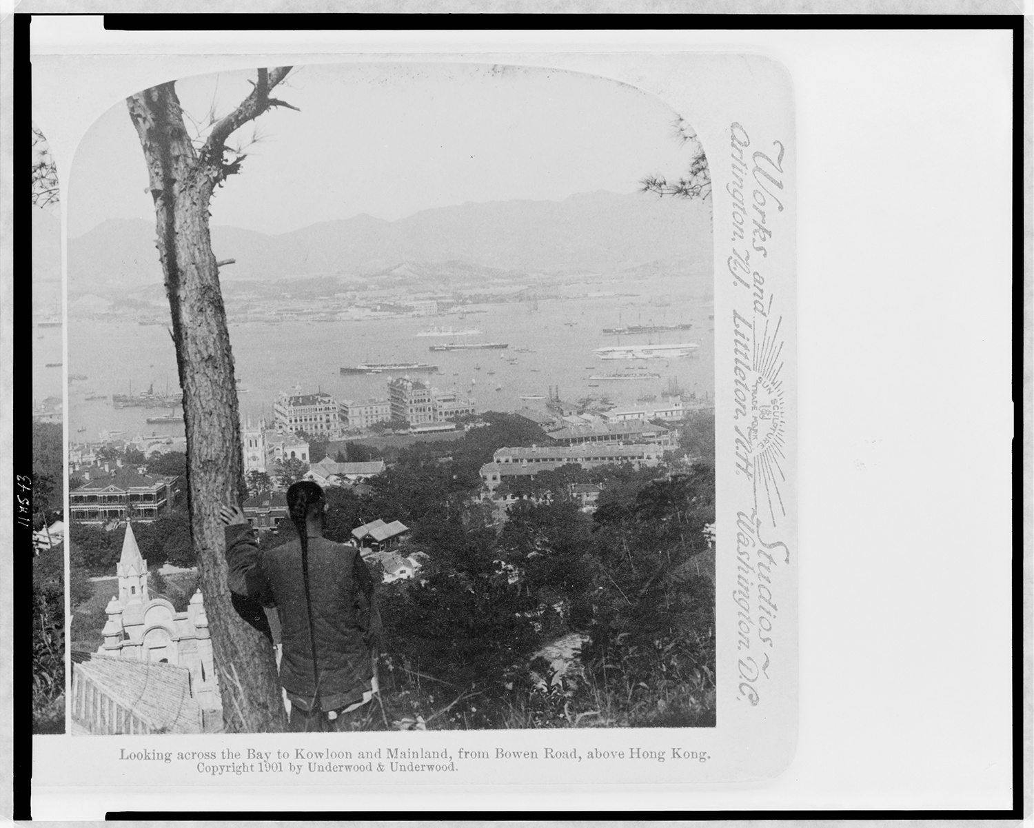 View of Kowloon Bay and the mainland beyond from Victoria Peak, 1900. Courtesy of the Library of Congress.