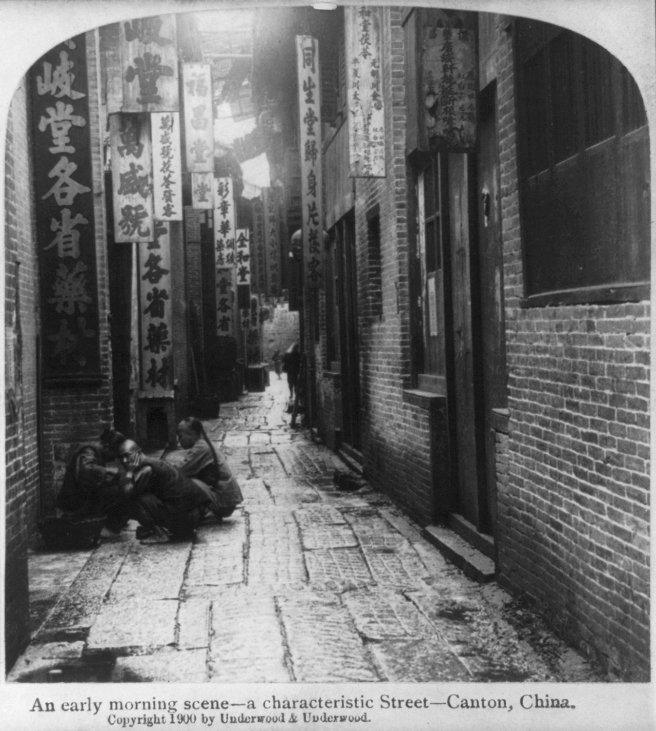 An early morning scene, Canton, China, c. 1900.