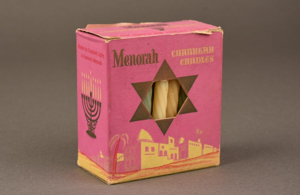 During his tenure as president of Rodef Shalom Congregation in Pittsburgh, Abraham Lippman gave Chanukah candles to every child in the congregation. Following his death in 1910, one of those children anonymously continued the tradition. Gift of Mark Aronson