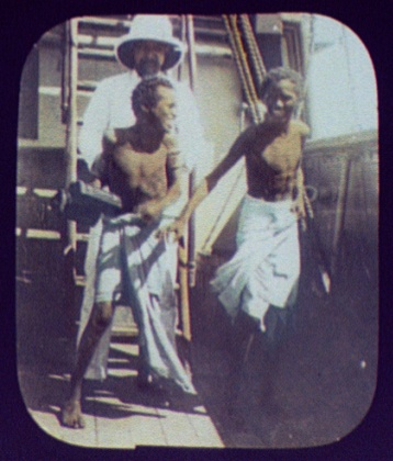 Native crewmen on a ship at Aden, 1894. Courtesy of Library of Congress.