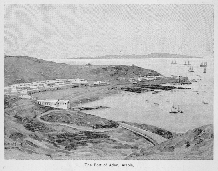 Port of Aden, 1891. Courtesy of Wikimedia Commons.