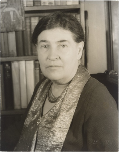 Portrait of Willa Cather, photograph by Carl Van Vechten 1936. This image was featured in the recent exhibition Smithsonian' Portraits of Pittsburgh: Works from the National Portrait Gallery. Smithsonian Institution, National Portrait Gallery, © Carl Van Vechten Trust.
