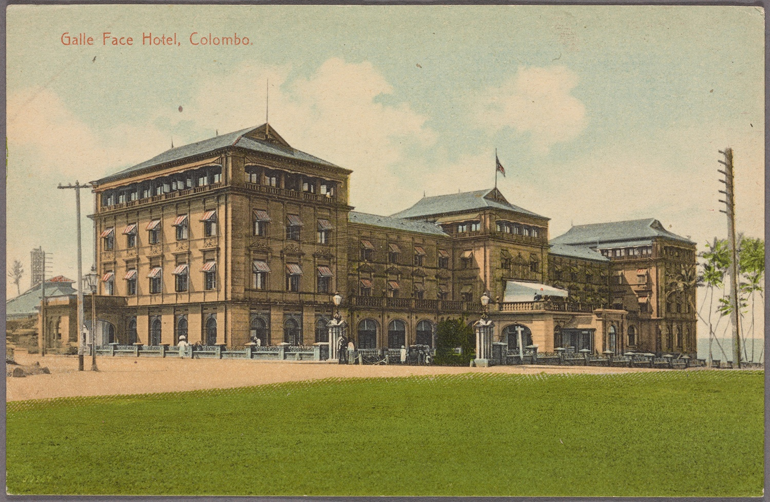 Galle Face Hotel, c. 1910. Courtesy of the New York Public Library.