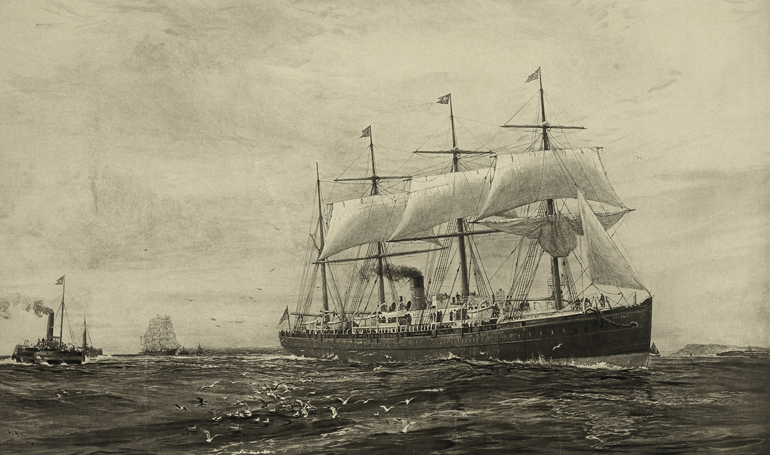 RMS Oceanic, 1871. Courtesy of Wikimedia Commons.