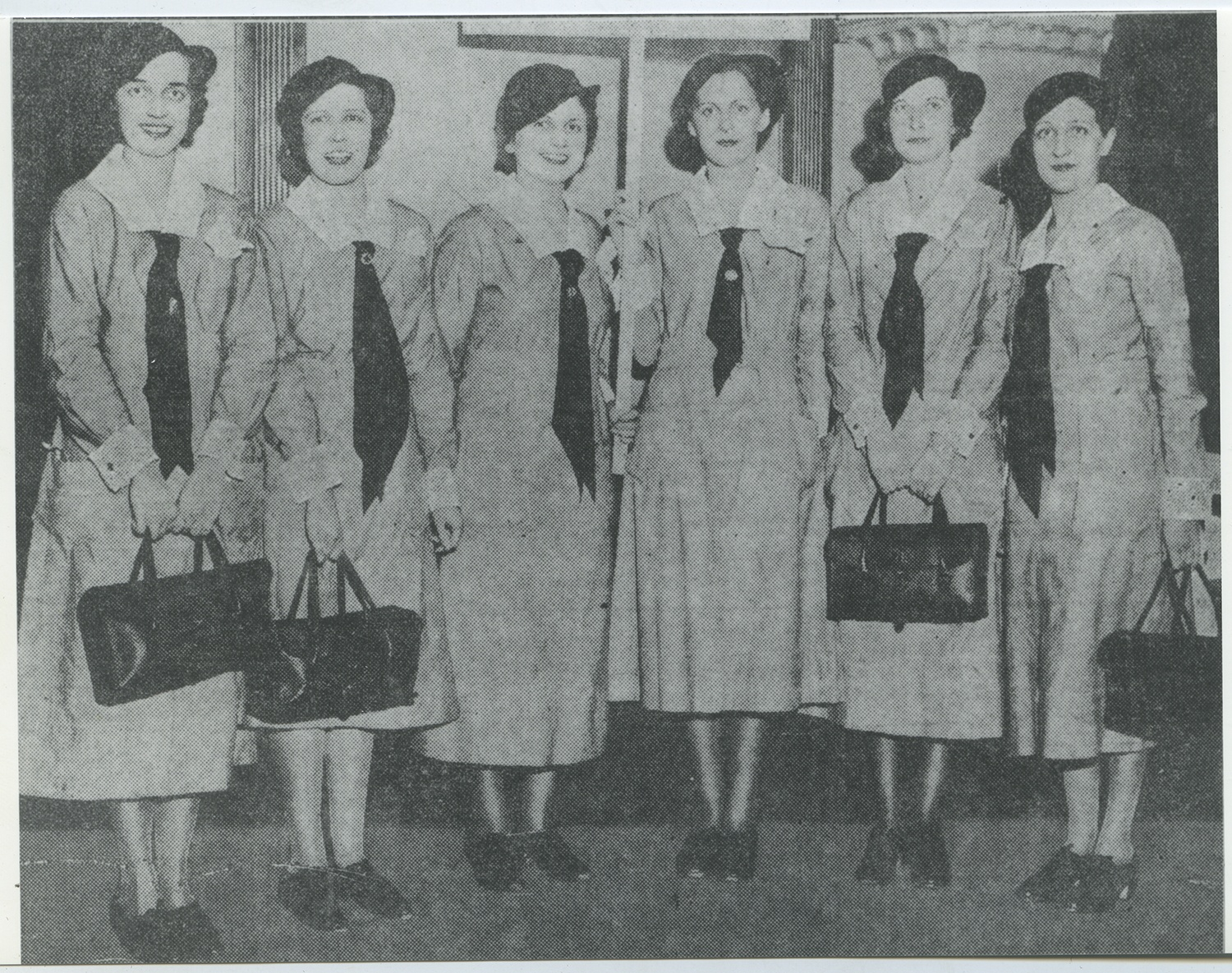 Anne M. Nixon (3rd from left) pictured with other members of Pittsburgh's Public Health Nurse Corps, 1930s. Gift of Anne M. Nixon, 1995.0049, Heinz History Center Museum Collections.