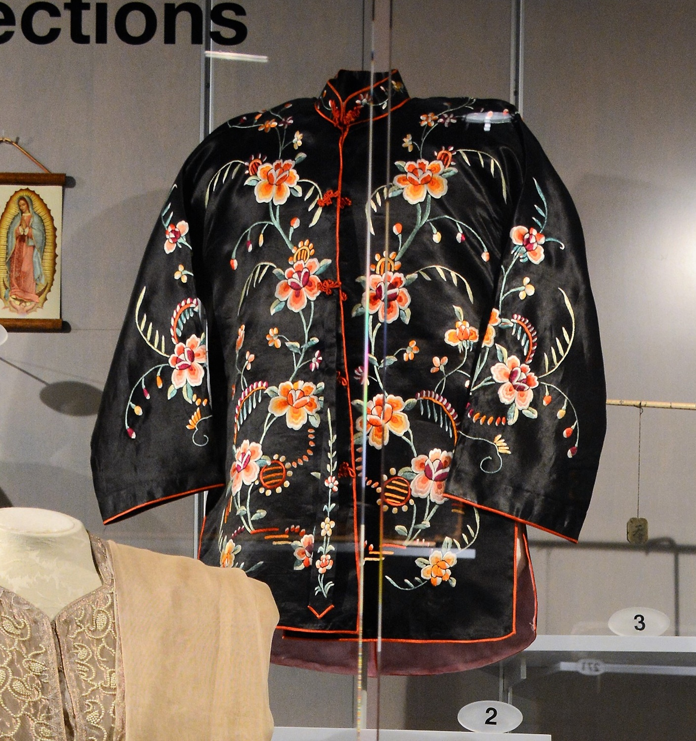 Embroidered jacket given by Lew Shee Lee to her daughter Lydia, c. 1950. Gift of the Git Lee family, Heinz History Center Museum Collections.